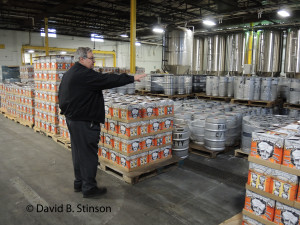 Richard O'Keefe Giving a Tour of Peabody Heights Brewery, Baltimore, Maryland
