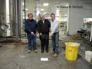 Bernard McKenna, Richard O'Keefe, and J. Hollis Albert, III, Marking the Former Location of Oriole Park Second Base, Peabody Heights Brewery, Baltimore, Maryland