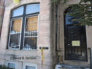 Fire Damage To 2740 St. Paul Street, Baltimore, Maryland, Forrmer House of Wilbert Robertson