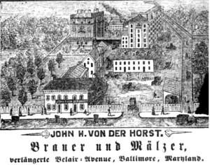 Von Der horst Brewery Circa 1880s (courtesy of Ken Mars)